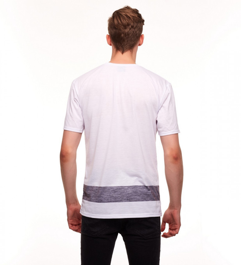 white tshirt with deer logo