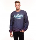 bluza z motywem neonu i napisem aloha