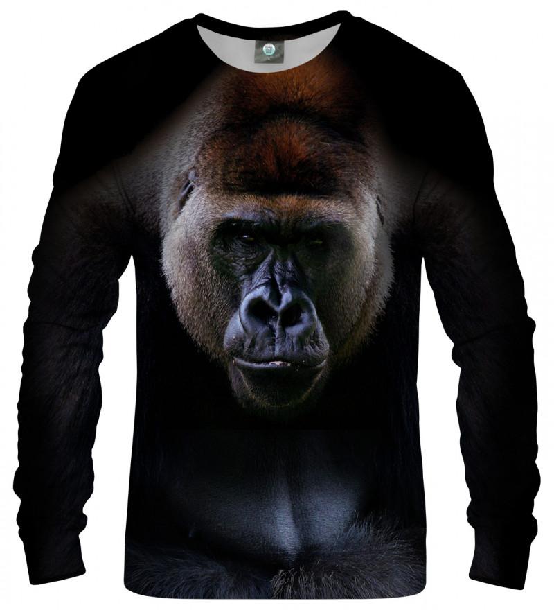 sweatshirt with gorilla motive