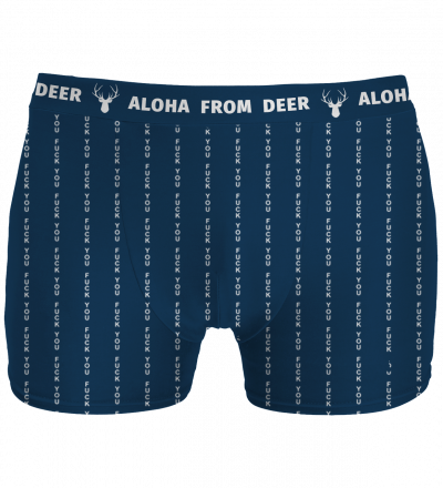 navy underwear with fk you inscription