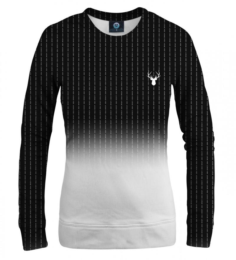 czarno biała bluza z napisem fk you