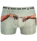 Touches underwear