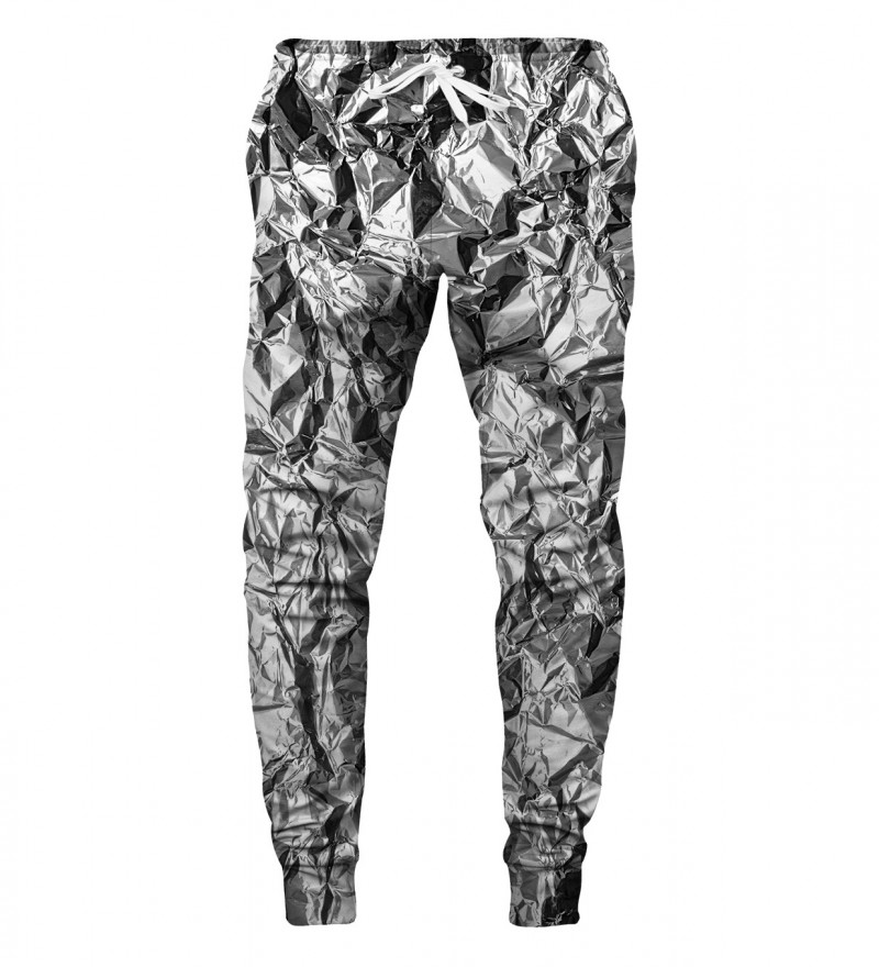 sweatpants with silver effect