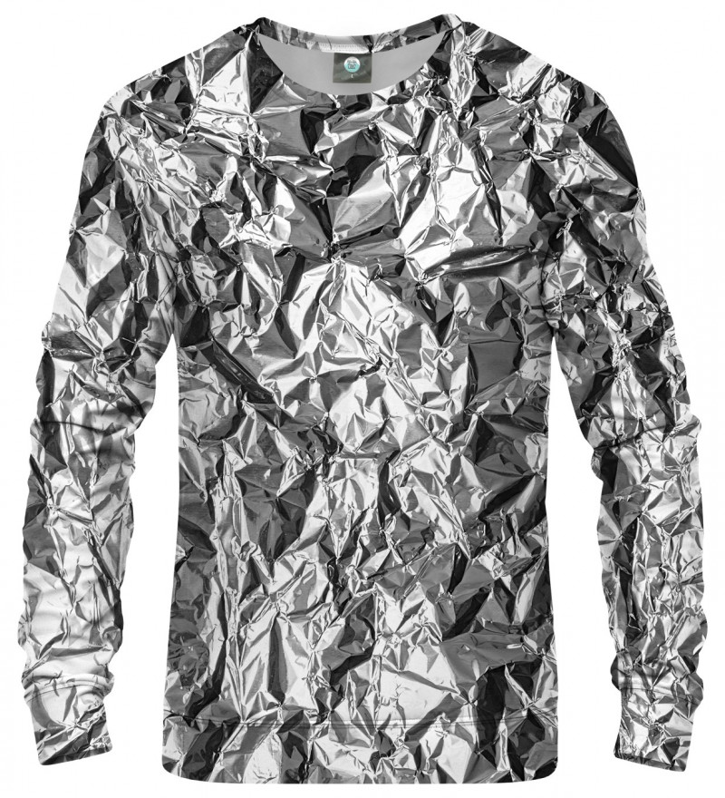 sweatshirt with silver effect