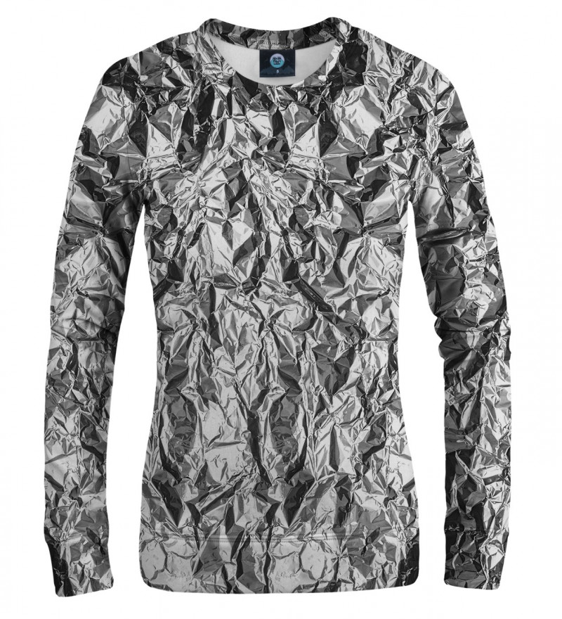 women sweatshirt with silver effect