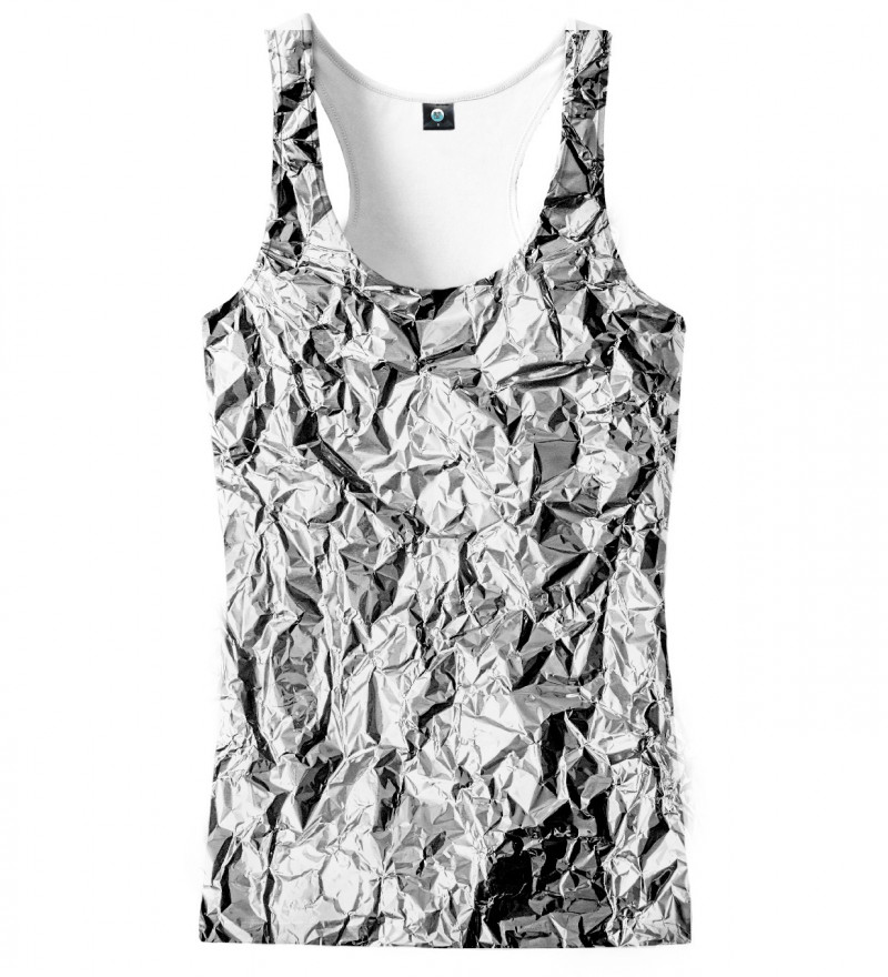 tank top with silver effect