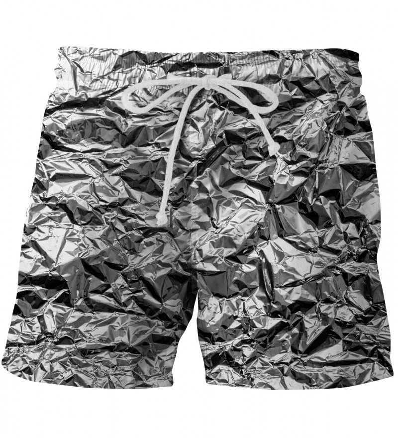 shorts with silver effect