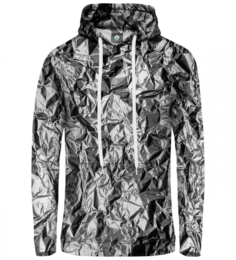 hoodie with silver effect