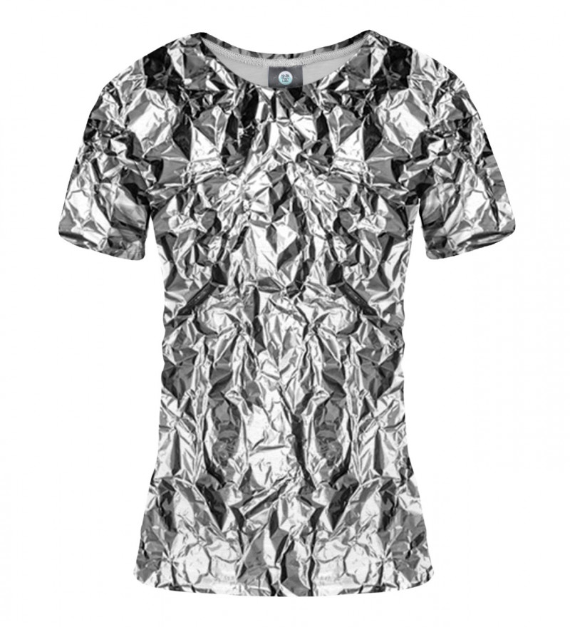 women tshirt with silver effect