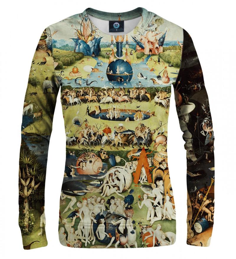 sweatshirt with garden motive