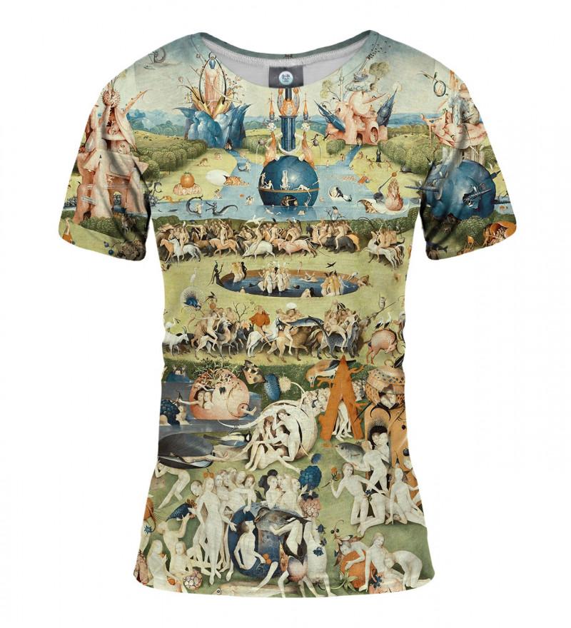 women tshirt with garden motive