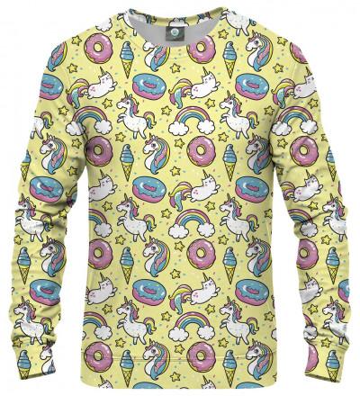 słodka bluza z motywem jednorożców