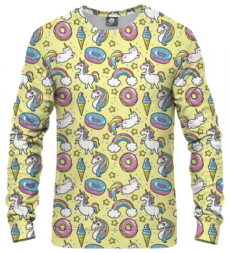 cute sweatshirt with unicorns motive