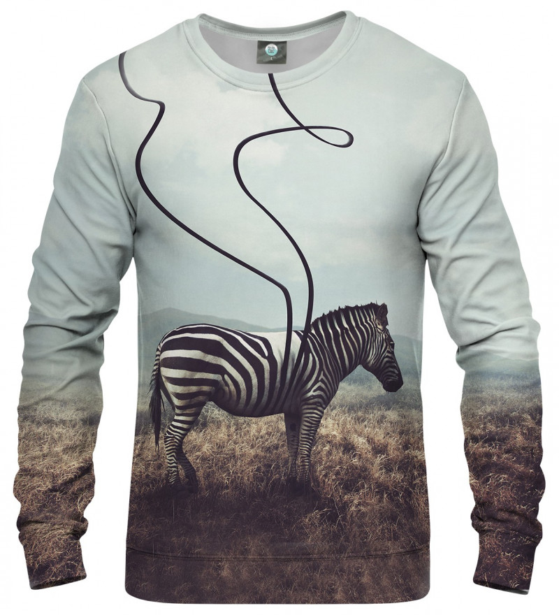 sweatshirt with zebra motive