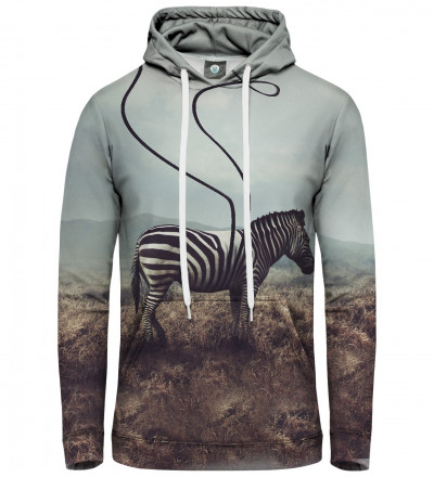 bluza z kapturem z motywem zebry