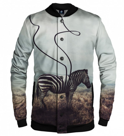 basketball jacket with zebra motive