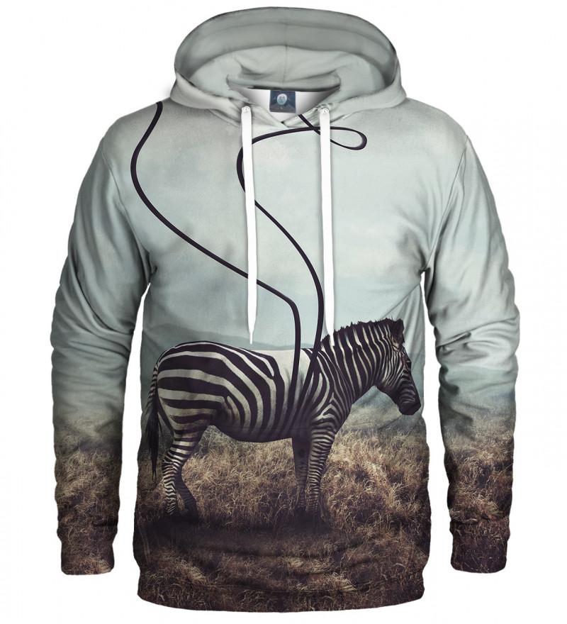 hoodie with zebra motive