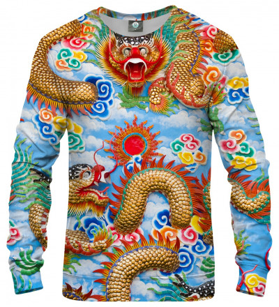 sweatshirt with china dragon motive