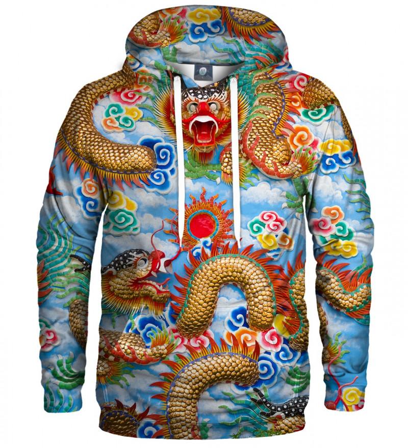 bluza z kapturem z motywem chińskiego smoka