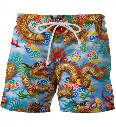 shorts with china dragom motive