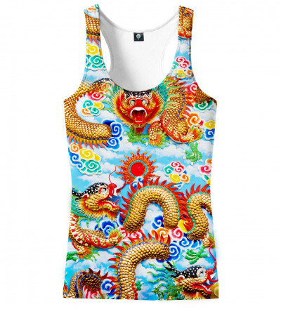 tank top with china dragon motive