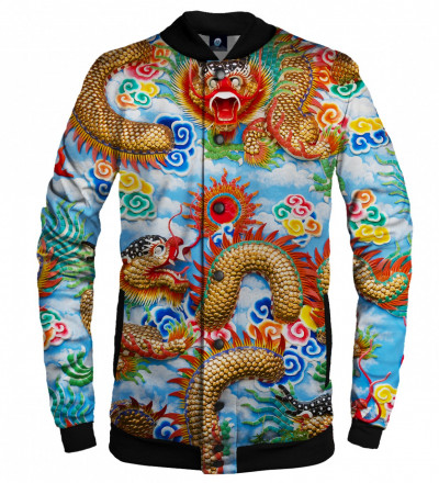 baseball jacket with china dragon motive