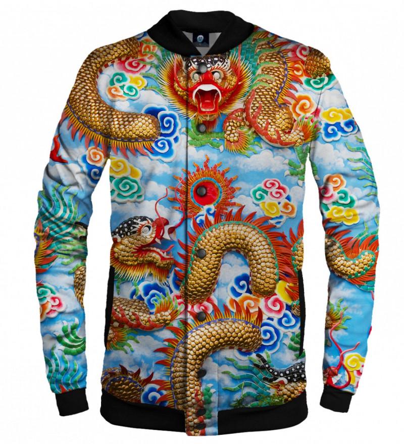baseball jacket with china dragon motive