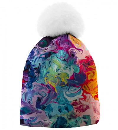 bardzo kolorowa czapka