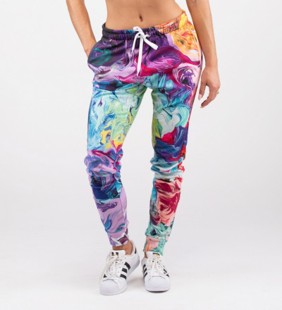 kolorowe damskie spodnie