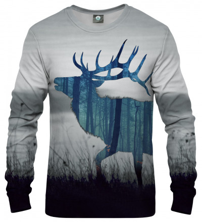 sweatshirt with deer motive