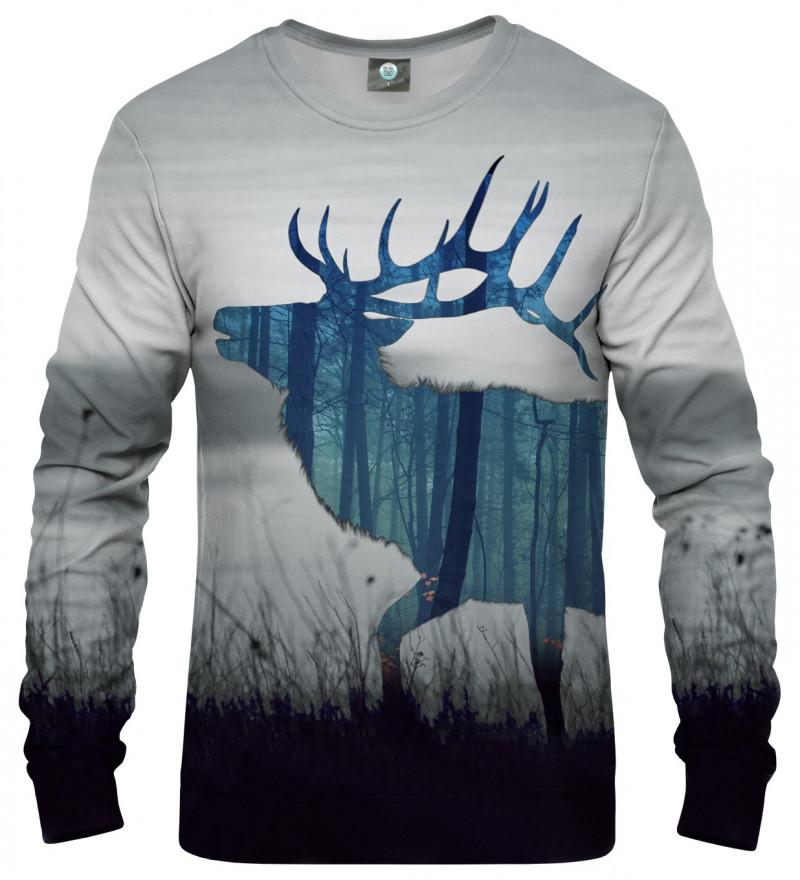 sweatshirt with deer motive