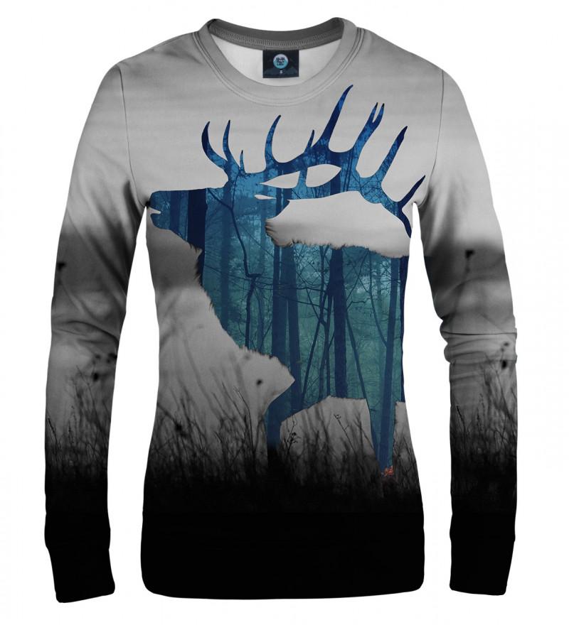 damska bluza z motywem jelenia
