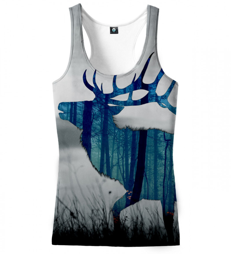 tank top with deer motive