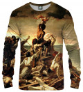 The raft of the Medusa  Sweatshirt, by Théodore'a Géricault