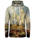 The battle of Trafalgar women hoodie, by William Turner