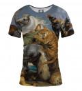 The tiger hunt women t-shirt, by Peter Paul Rubens