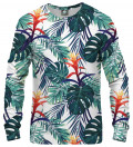 sweatshirt with tropic motive