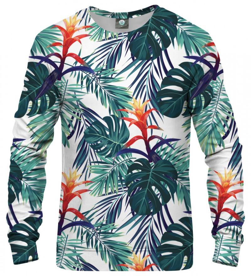 bluza z motywem liści monstera i innych
