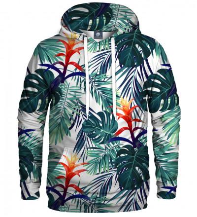 hoodie with monstera leaves motive