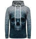 Pixel skull women hoodie