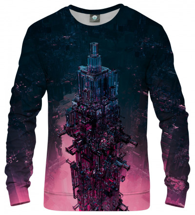 sweatshirt with glass tower motive