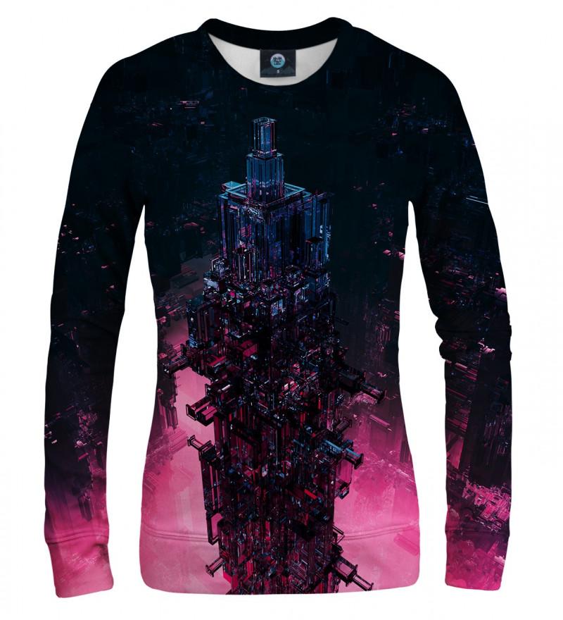 damska bluza z motywem szklanej wieży