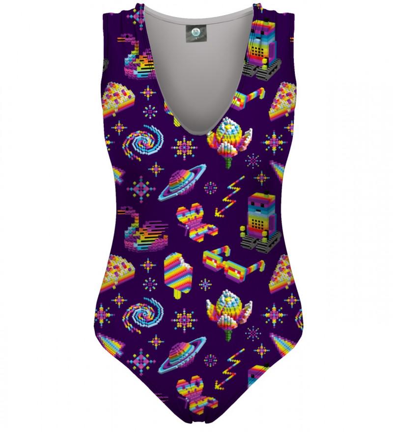 fioletowy strój kąpielowy