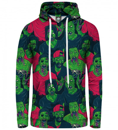 women hoodie with green zombie