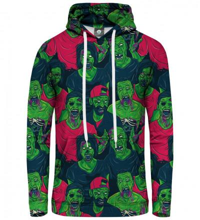 damska bluza z kapturem z zielonymi zombie