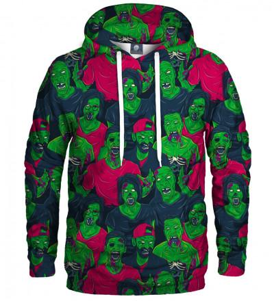bluza z kapturem z zielonymi zombie