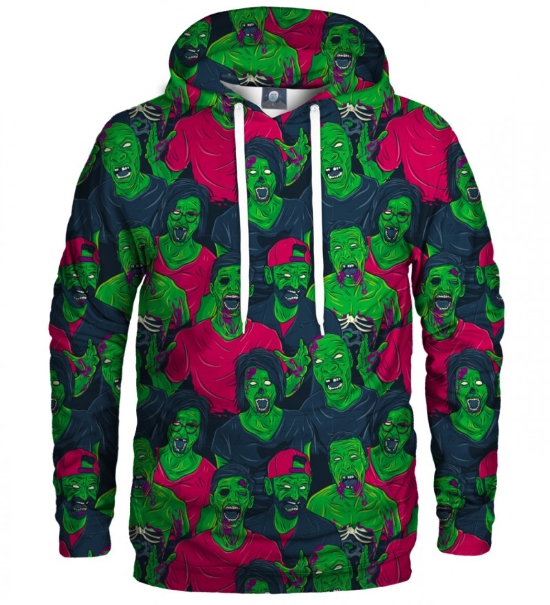 hoodie with green zombie