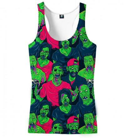 top z motywem zielonych zombie