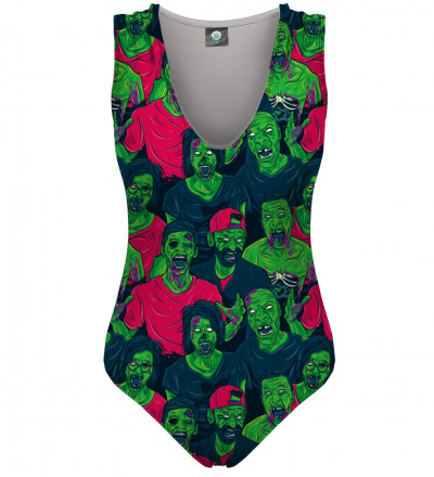 swimsuit with green zombie motive