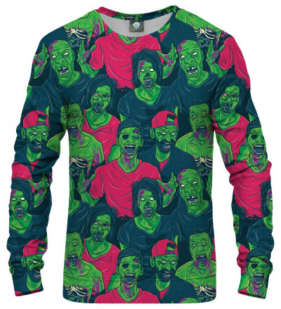 sweatshirt with green zombie motive
